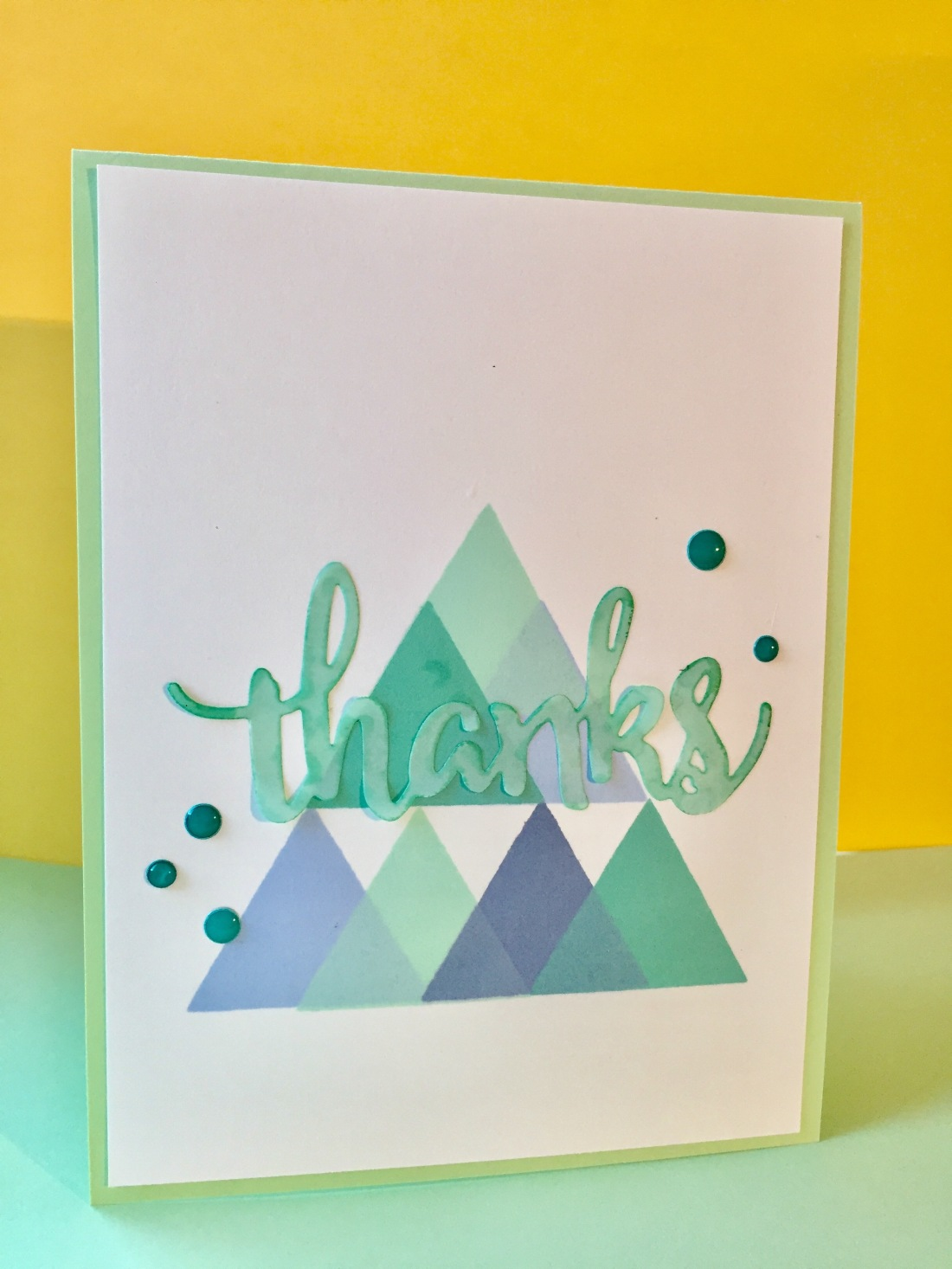 Geometric Stamped One-layer Card